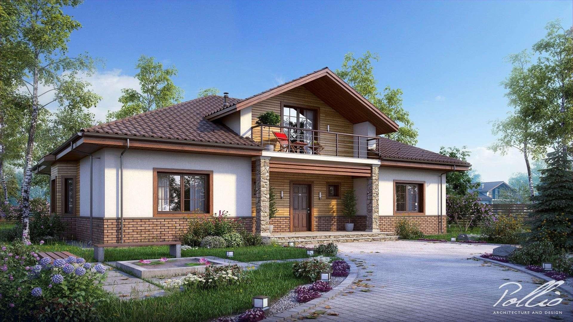 Одноэтажные дома с мансардой фото