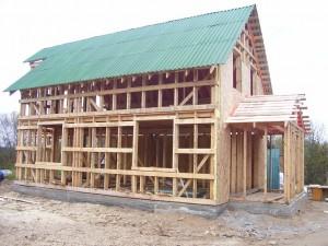 Каркасное строительство дома самострой