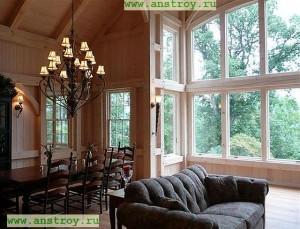 Каркасное строительство дома комбинирование с клеёным брусом