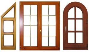 Фото окна из дерева различной формы