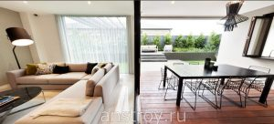 Дизайн проект интерьера дома с террасой