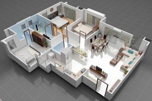 Дизайн проектирование 3D интерьера